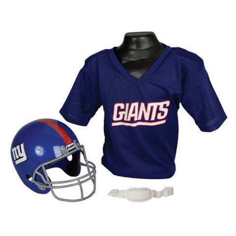 New York Giants Youth NFL Helmet and Jersey Set
