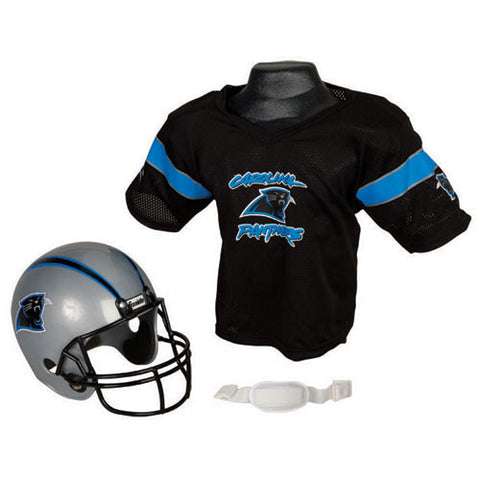 Carolina Panthers Youth NFL Helmet and Jersey Set