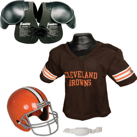Cleveland Browns NFL Helmet and Jersey SET with Shoulder Pads