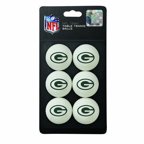 Green Bay Packers NFL Table Tennis Balls 6pc