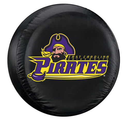 East Carolina Pirates NCAA Spare Tire Cover Standard Black