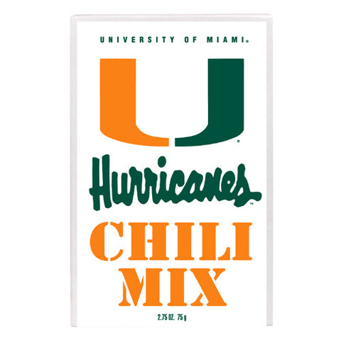 Miami Hurricanes NCAA Championship Chili Mix 2.75oz