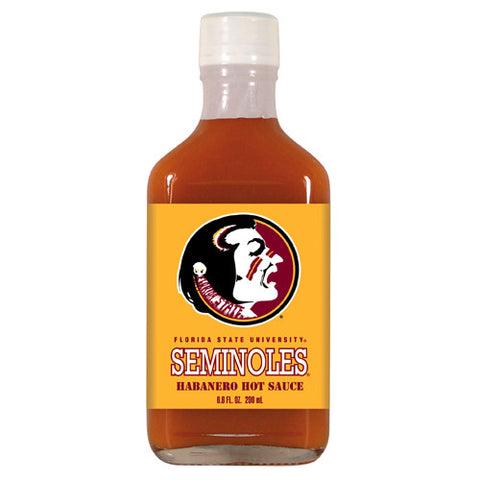 Florida State Seminoles NCAA Habanero Hot Sauce in a Flask 6.6 oz