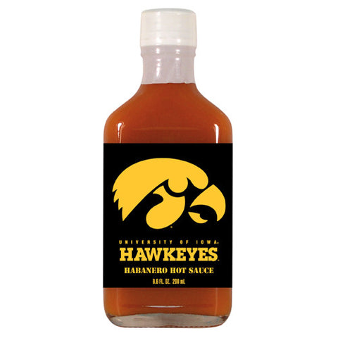 Iowa Hawkeyes NCAA Habanero Hot Sauce in a Flask 6.6 oz