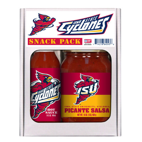 Iowa State Cyclones NCAA Snack Pack 5oz Hot Sauce, 16oz Picante Salsa