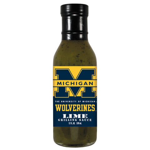 Michigan Wolverines NCAA Lime Grilling Sauce 12 oz
