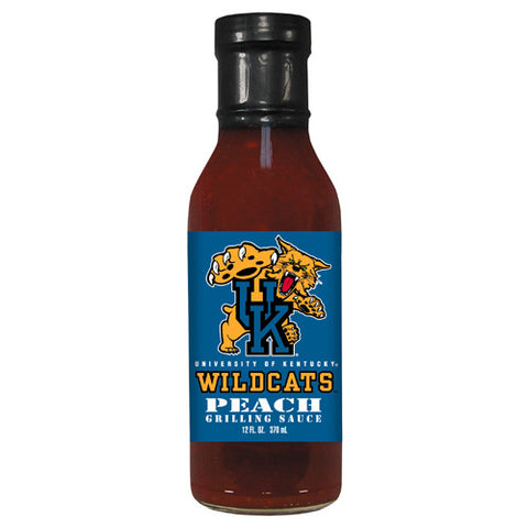 Kentucky Wildcats NCAA Peach Grilling Sauce 12 oz