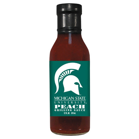 Michigan State Spartans NCAA Peach Grilling Sauce 12 oz
