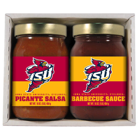 Iowa State Cyclones NCAA Double Play 16oz BBQ Sauce, Picante Salsa