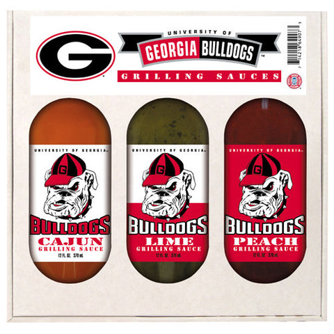 Georgia Bulldogs NCAA Grilling Gift Set 12oz Cajun, Lime, Peach