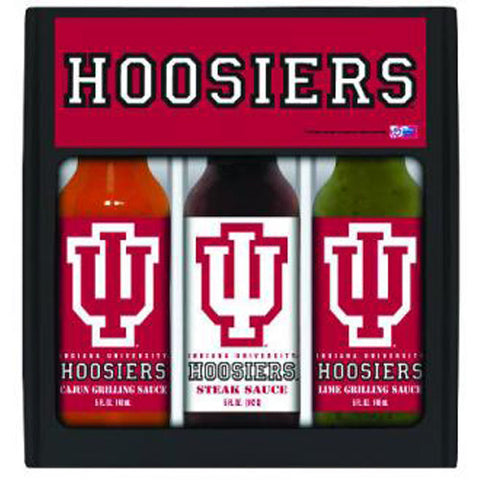 Indiana Hoosiers NCAA Grilling Gift Set 12oz Cajun, Lime, Peach