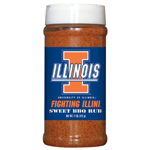 Illinois Fighting Illini NCAA Sweet BBQ Rub 11oz