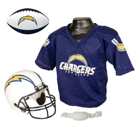 San Diago Chargers NFL Youth Size Helmet and Jersey With Team Color Football
