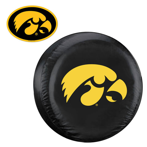 Iowa Hawkeyes NCAA Spare Tire Cover and Grille Logo Set