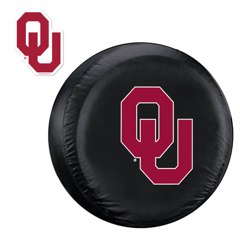 Oklahoma Sooners NCAA Spare Tire Cover and Grille Logo Set Regular