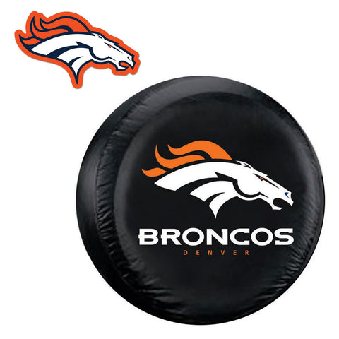 Denver Broncos NFL Spare Tire Cover and Grille Logo Set