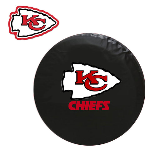 Kansas City Chiefs NFL Spare Tire Cover and Grille Logo Set Regular