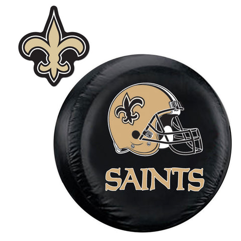 New Orleans Saints NFL Spare Tire Cover and Grille Logo Set Regular