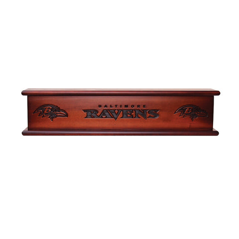 Baltimore Ravens NFL 20in Aspen Wood Memorabilia Shelve