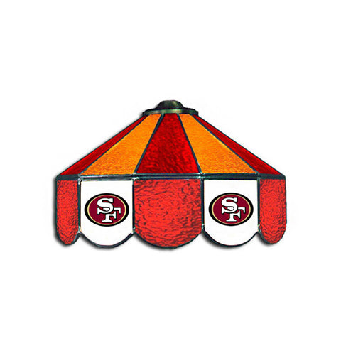 San Francisco 49ers NFL 16 Inch Billiards Stained Glass Lamp