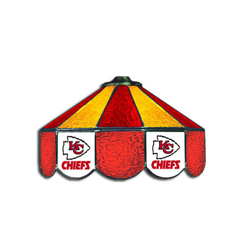 Kansas City Chiefs NFL 16 Inch Billiards Stained Glass Lamp