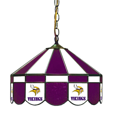 Minnesota Vikings NFL 16 Inch Billiards Stained Glass Lamp