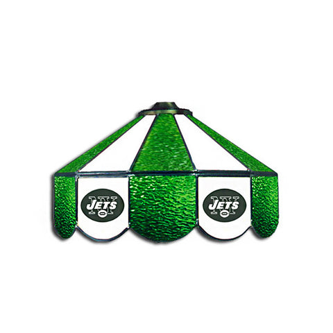 New York Jets NFL 16 Inch Billiards Stained Glass Lamp
