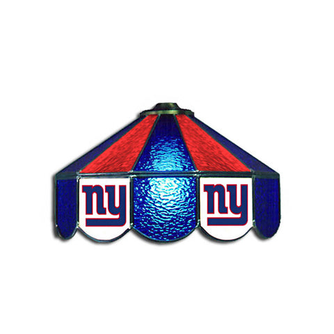New York Giants NFL 16 Inch Billiards Stained Glass Lamp