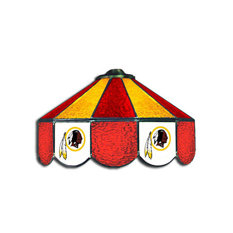 Washington Redskins NFL 16 Inch Billiards Stained Glass Lamp