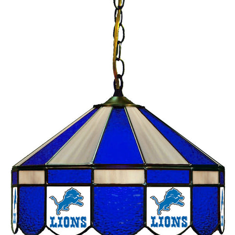 Detroit Lions NFL 16 Inch Billiards Stained Glass Lamp