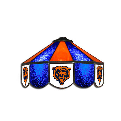 Chicago Bears NFL 16 Inch Billiards Stained Glass Lamp