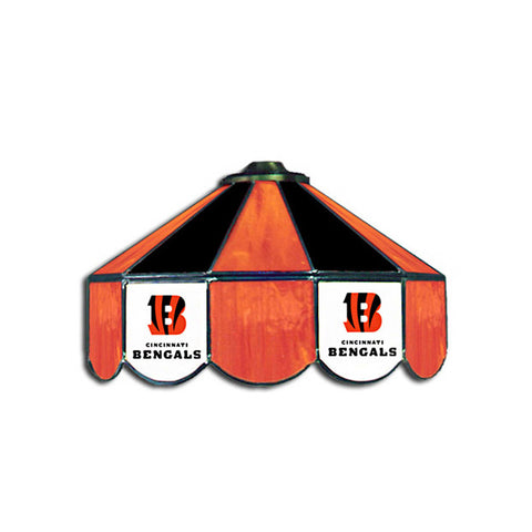 Cincinnati Bengals NFL 16 Inch Billiards Stained Glass Lamp