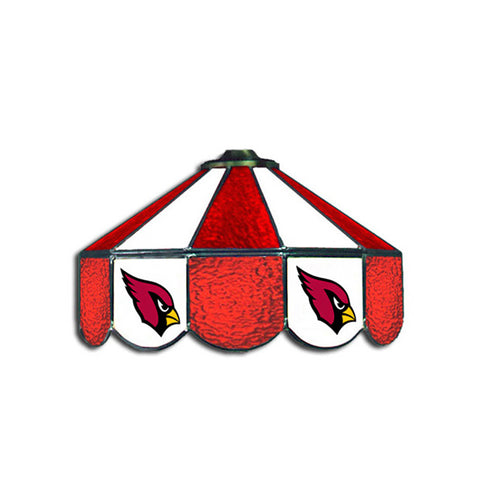 Arizona Cardinals NFL 16 Inch Billiards Stained Glass Lamp