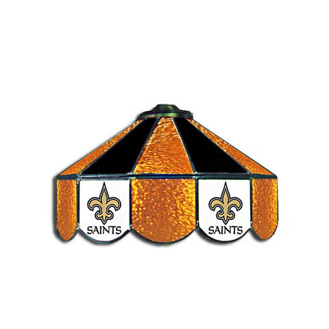 New Orleans Saints NFL 16 Inch Billiards Stained Glass Lamp