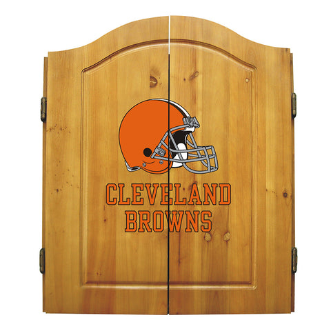 Cleveland Browns NFL Dart Board w/Cabinet