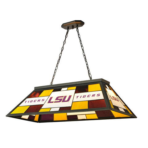 LSU Tigers NCAA 40 Inch Tiffany Billiards Lamp