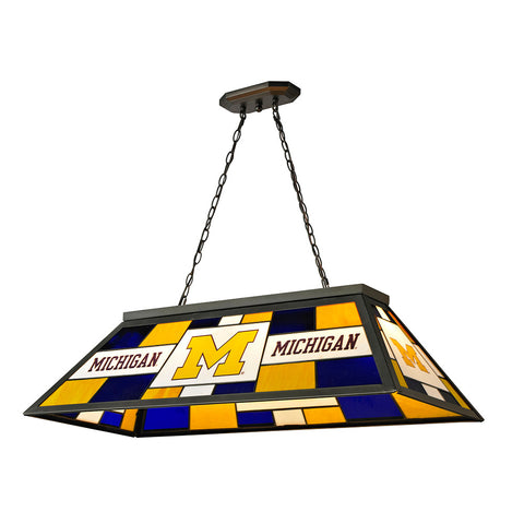 Michigan Wolverines NCAA 40 Inch Tiffany Billiards Lamp
