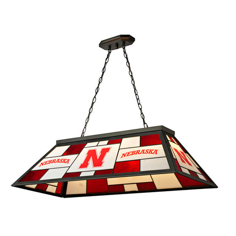 Nebraska Cornhuskers NCAA 40 Inch Tiffany Billiards Lamp