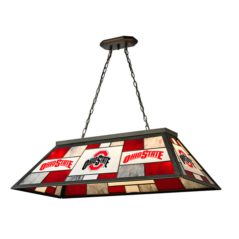 Ohio State Buckeyes NCAA 40 Inch Tiffany Billiards Lamp