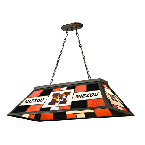 Missouri Tigers NCAA 40 Inch Tiffany Billiards Lamp