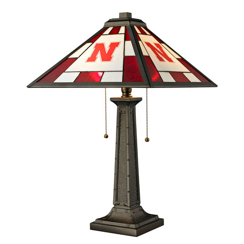 Nebraska Cornhuskers NCAA Tiffany Desk Lamp