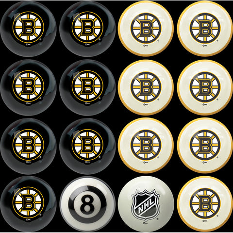 Boston Bruins NHL 8 Ball Billiard Set