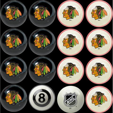 Chicago Blackhawks NHL 8 Ball Billiard Set