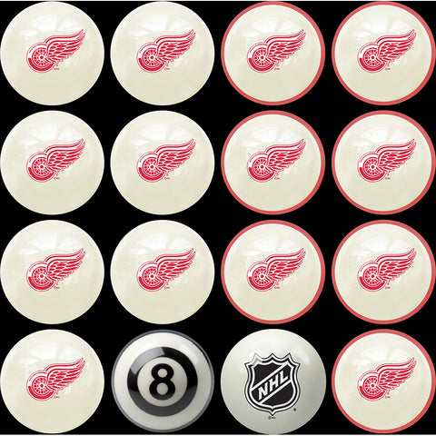 Detroit Red Wings NHL 8 Ball Billiard Set