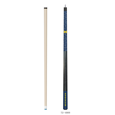 Michigan Wolverines NCAA Cue and Carrying Case Set