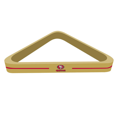 San Francisco 49ers NFL Billiard Ball Triangle Rack