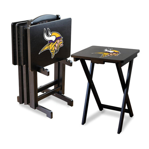 Minnesota Vikings NFL TV Tray Set with Rack
