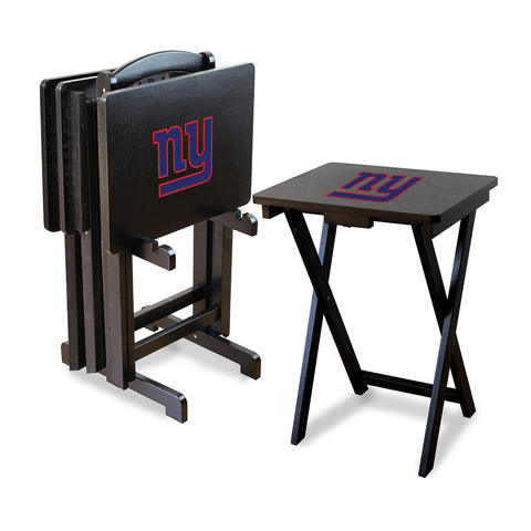 New York Giants NFL TV Tray Set with Rack