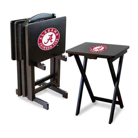 Alabama Crimson Tide NCAA TV Tray Set with Rack
