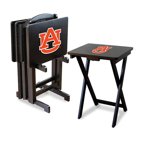 Auburn Tigers NCAA TV Tray Set with Rack